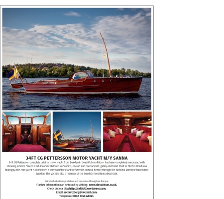 Classic wooden boat for sale